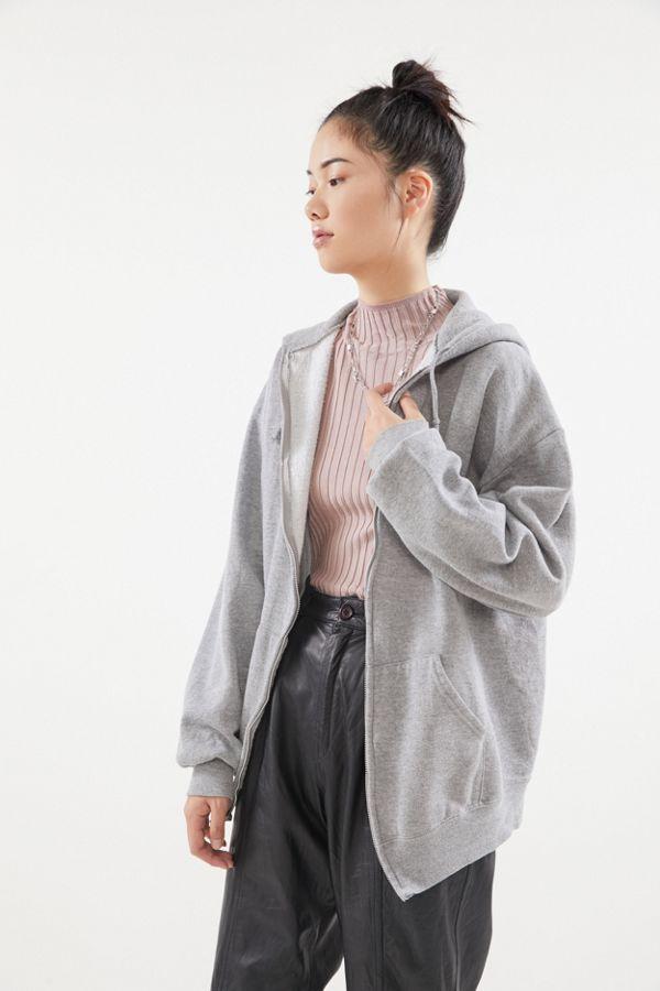 Urban Renewal Vintage Oversized Zip Up Hoodie Sweatshirt In 2020 Hoodie Outfit Casual Hoodie Outfit Zip Hoodie Outfit