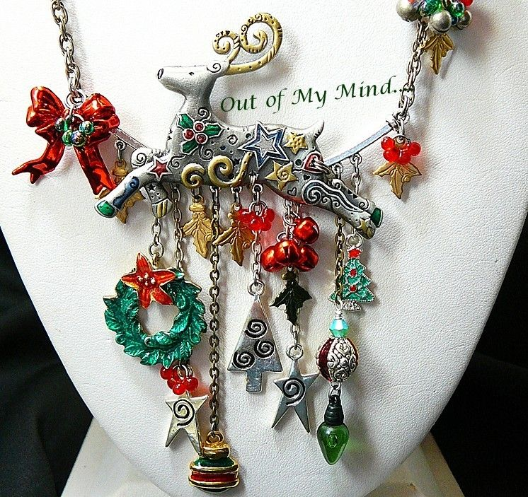 Christmas Reindeer - Out of My Mind Charm Necklace from outofmymind on Ruby Lane
