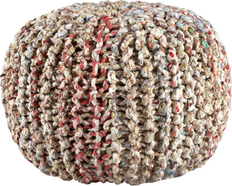 recycled pouf in pillows | CB2
