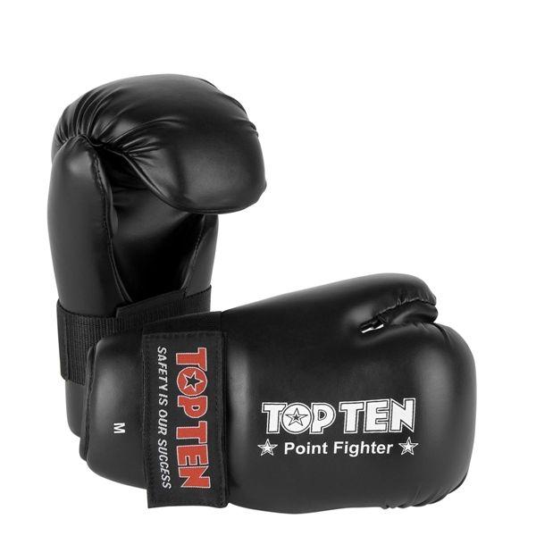 Top Ten Pointfighter Kick Boxing Gloves Black Training Sparring
