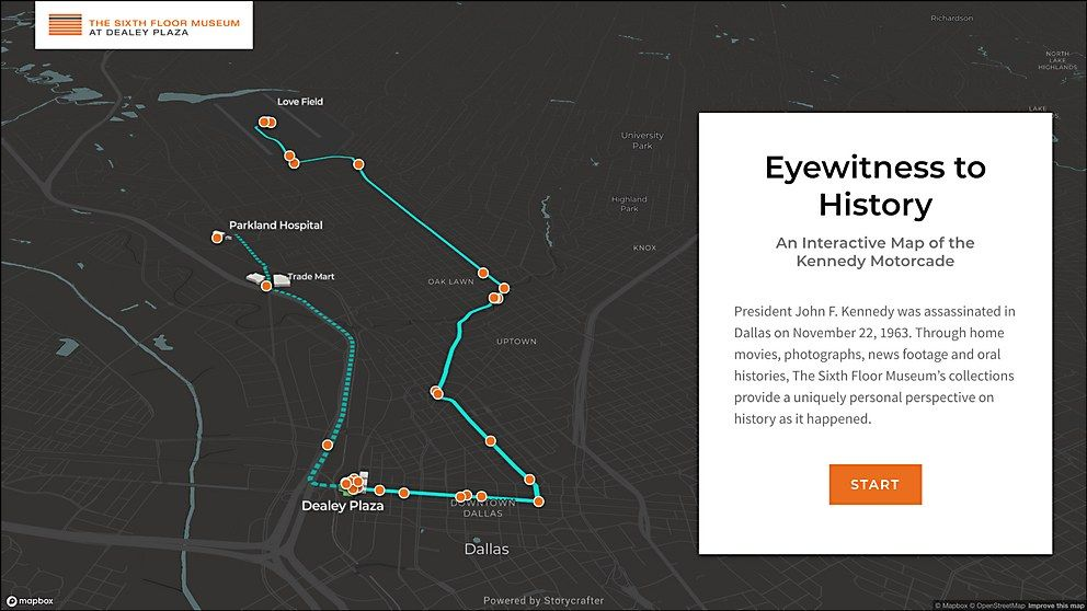 Eyewitness to History An Interactive Map of the Kennedy