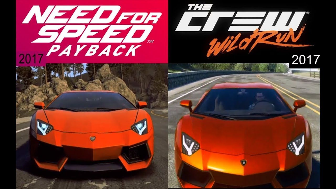 Need for speed payback vs the crew wild run lamborghini aventador ga