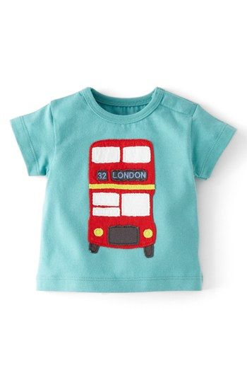 Mini Boden boy's baby cotton applique top t-shirt  new shirt tee applique logo T-Shirts & Tops