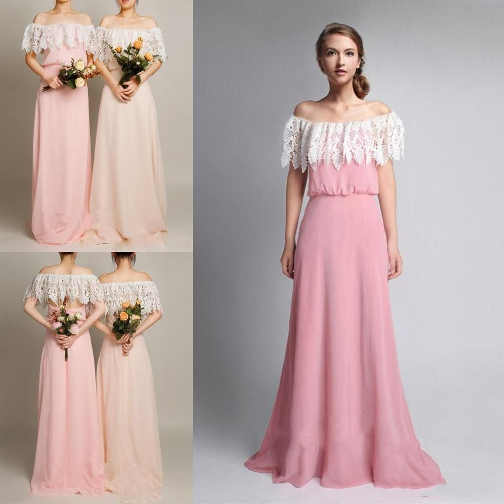 New arrival 2017 off shoulder bridesmaid dresses lace short sleeve new arrival 2017 off shoulder bridesmaid dresses lace short sleeve floor length chiffon a line miad of honor gowns hot prom party dress ombrellifo Gallery