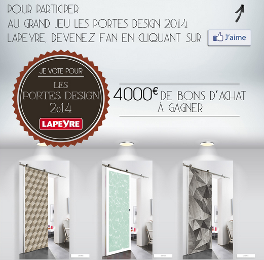 gagnez 1 bon d 39 achat lapeyre de 1 000 30 bons d 39 achat de 100 lien facebook http www. Black Bedroom Furniture Sets. Home Design Ideas