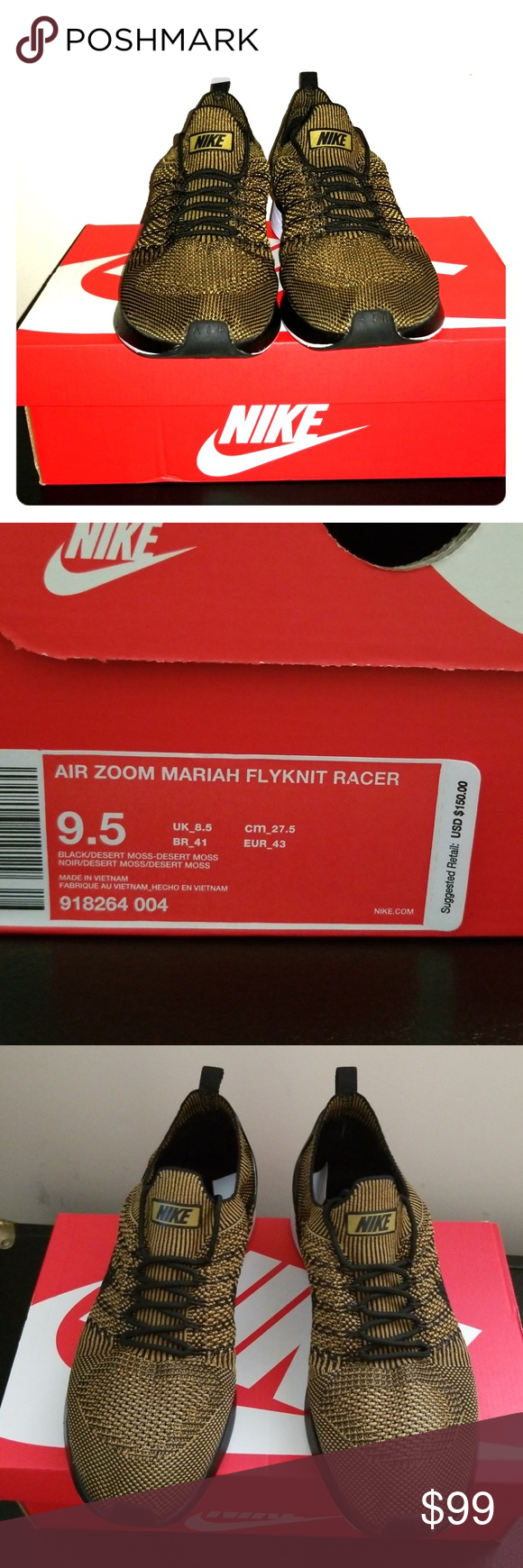 Nike air zoom mariah flykit racer nwt Flyknit racer, Chaussures