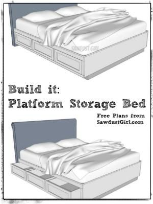 Free Plans To Build A Cal King Platform Storage Bed By Terri