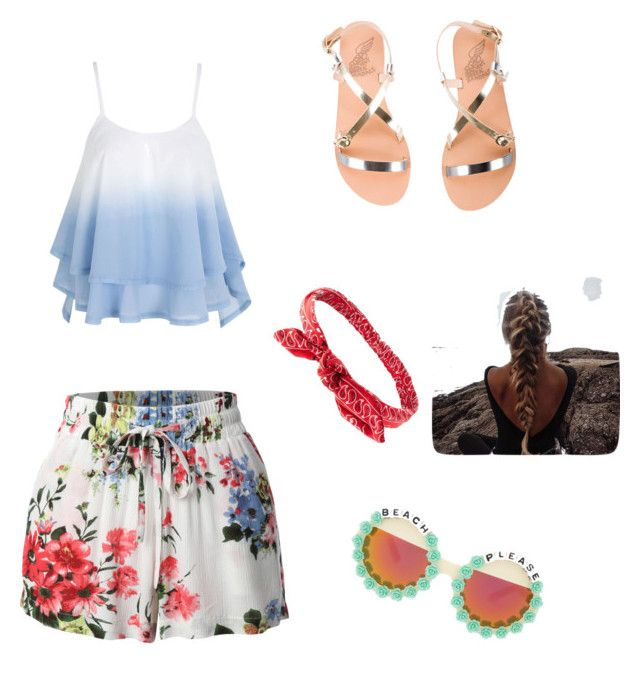 """Untitled #40"" by julioli ❤ liked on Polyvore featuring LE3NO, Ancient Greek Sandals, Charlotte Russe and Rad+Refined"