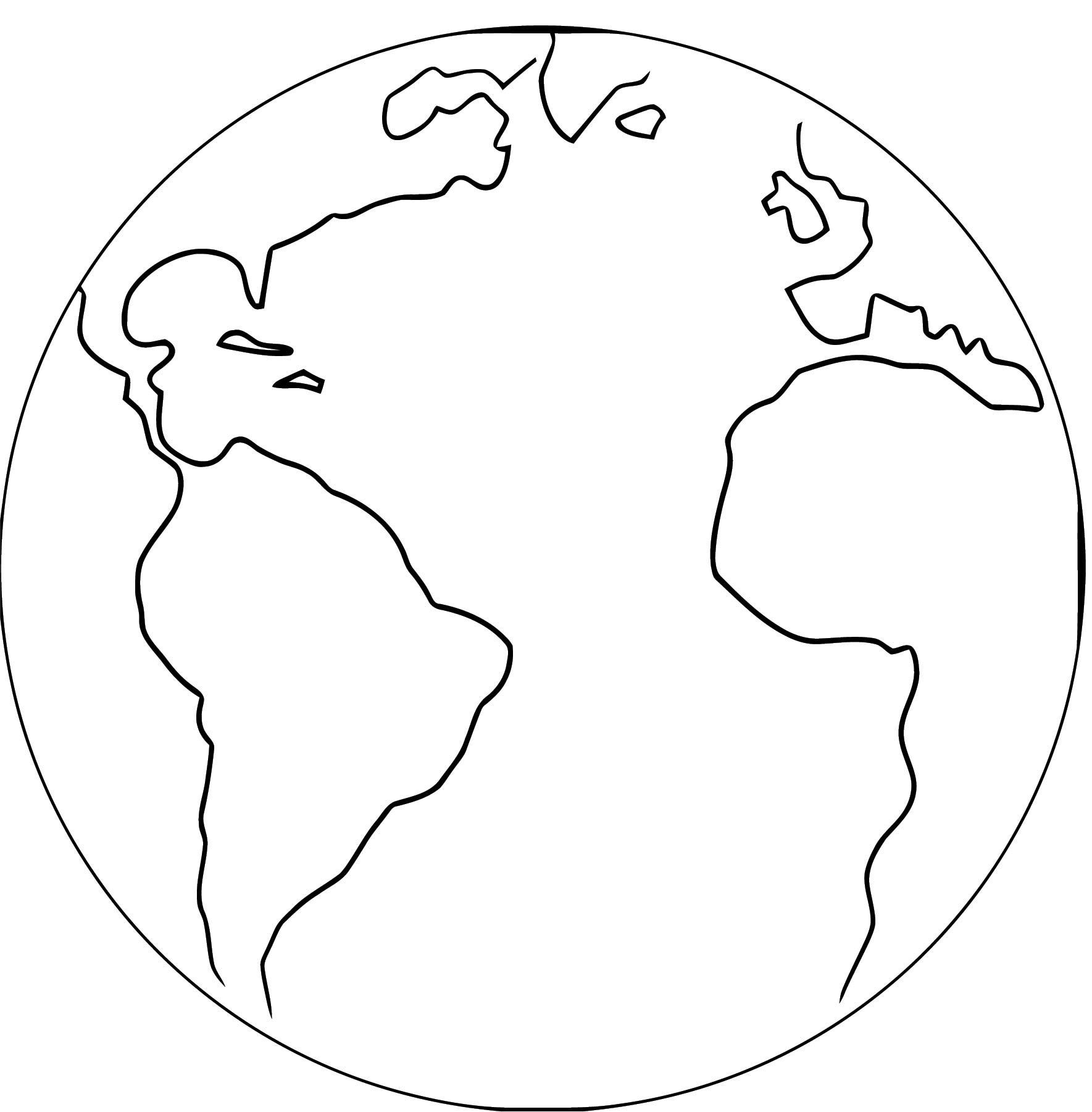 Earth Globe Coloring Page Wecoloringpage 087