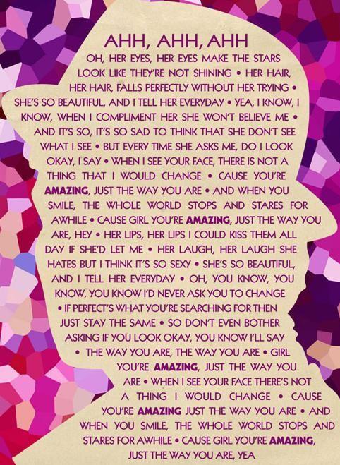Bruno Mars - Just The Way You Are (Amazing) Lyrics