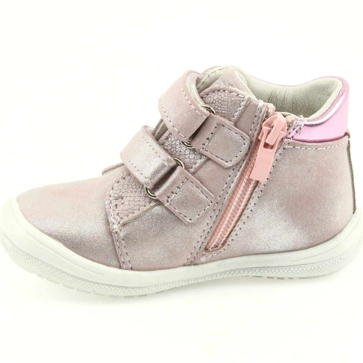 American Club Adi Sportowe Buty Dzieciece W Serduszka American Szare Rozowe Wedge Sneaker Shoes Sneakers