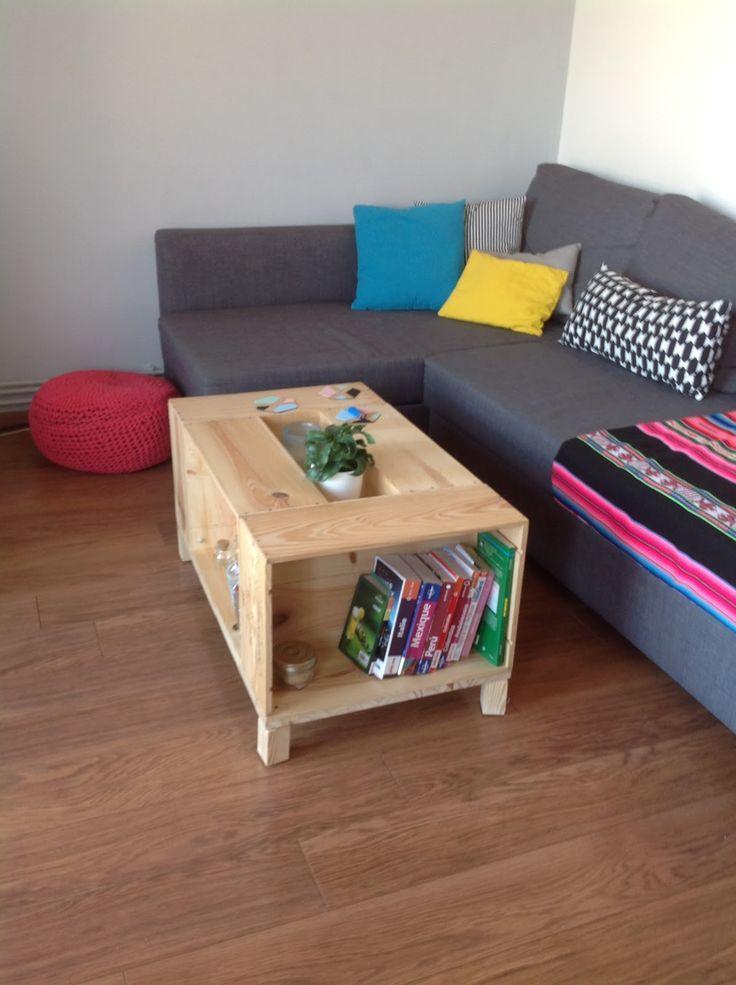 r sultat de recherche d 39 images pour table basse caisse vin home sweet home pinterest. Black Bedroom Furniture Sets. Home Design Ideas