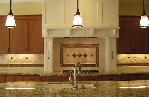 kitchen backsplash idea the backsplash was crafted with copper and 2219