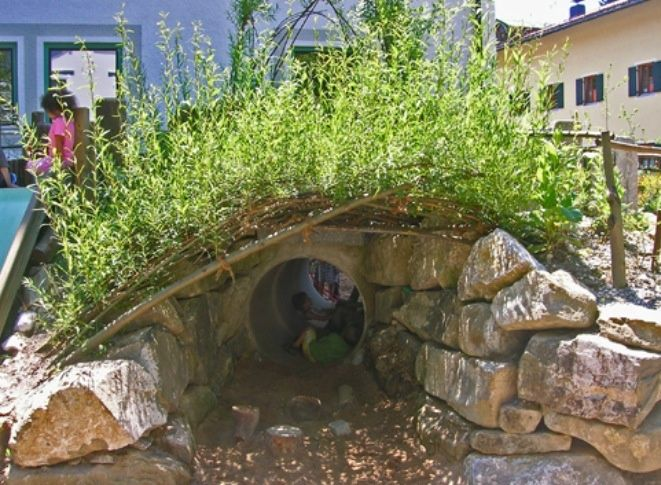 Really cool example of a natural play space--I know I'd want to play in this if I were a kid! | VIa Wholesome Generation