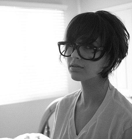 short hair glasses