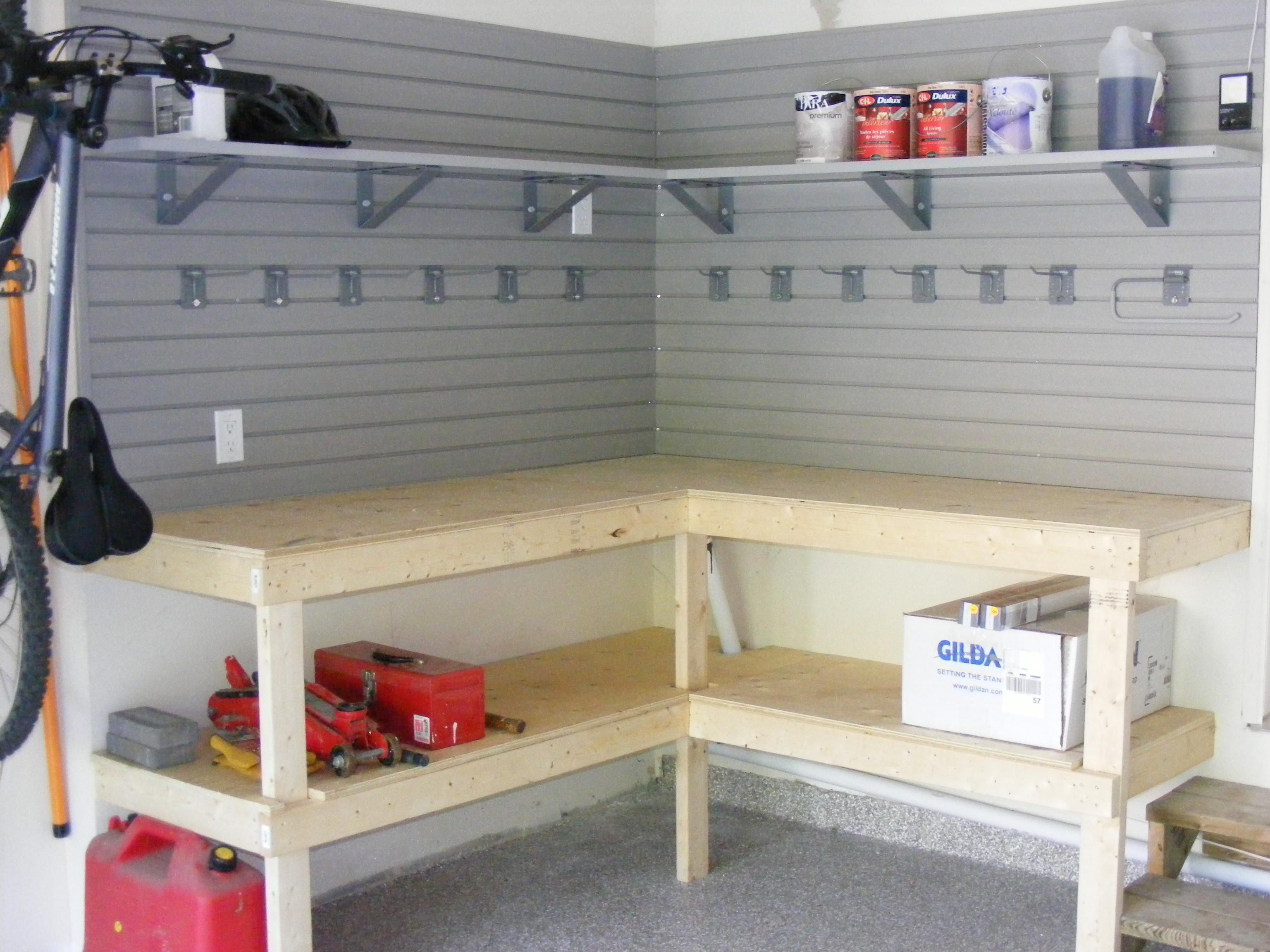 Garage organization tips new home designs the best garage - Build Your Own Garage Workbench Diy Garage Ideas Storagegarage