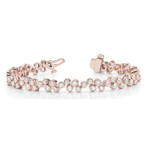 Diamantarmband 2.00 Karat Brillanten - 585 Rosegold