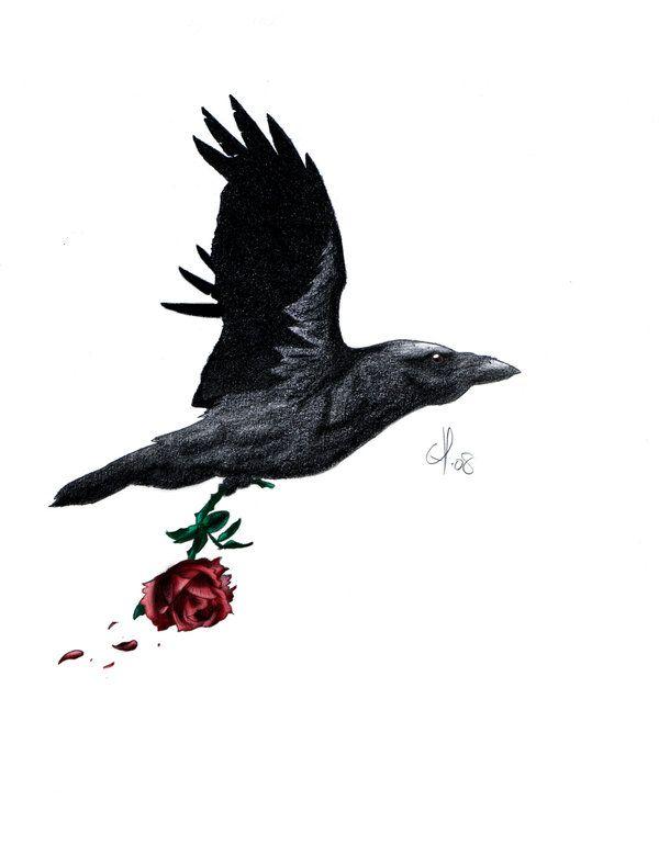Raven Tattoo by EvilChrisChris.deviantart.com on @deviantART