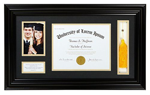 Heartfelt Diploma Graduation Photo Frame 25x1475 Inches Black Jeremiah 2911 Check Out High School Graduation Gifts Graduation Frame Graduation Photo Frame