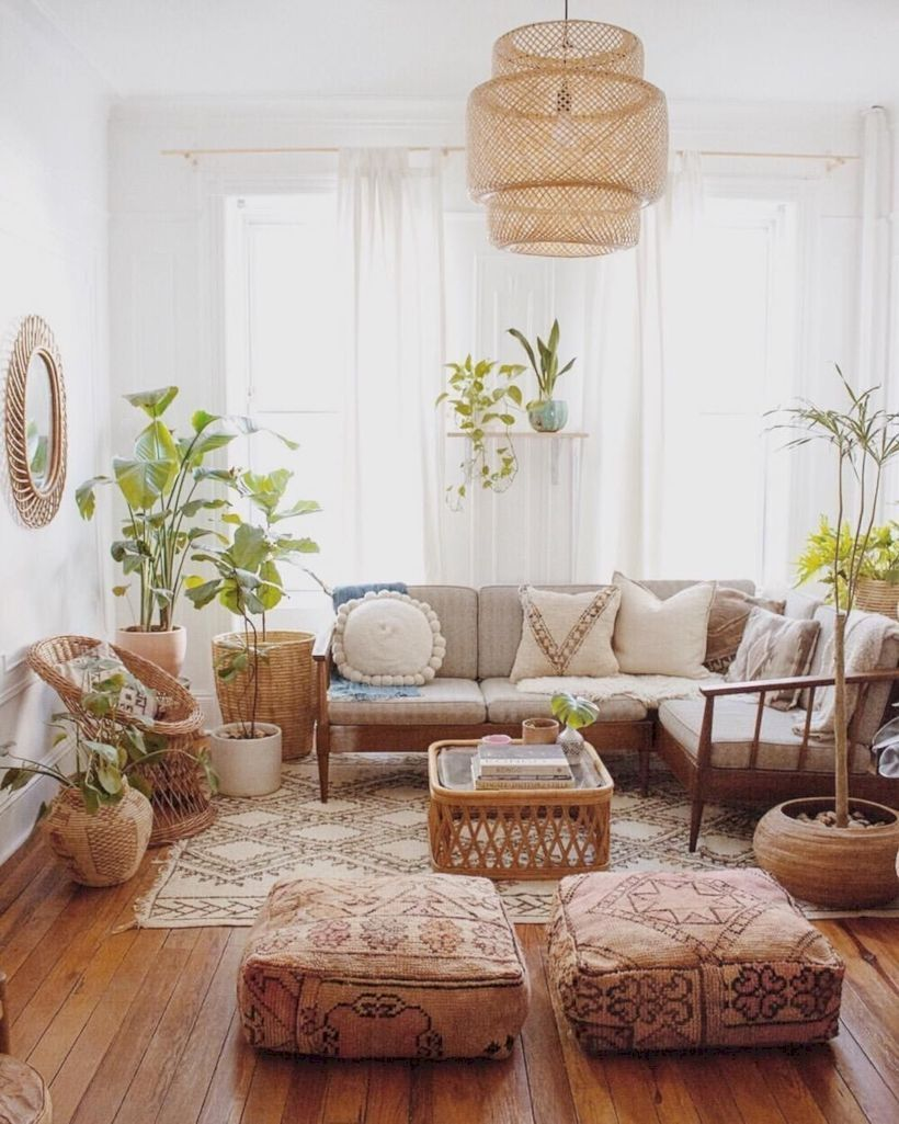 Small Boho Living Room: 30 Modern Bohemian Living Room Ideas For Small Apartment