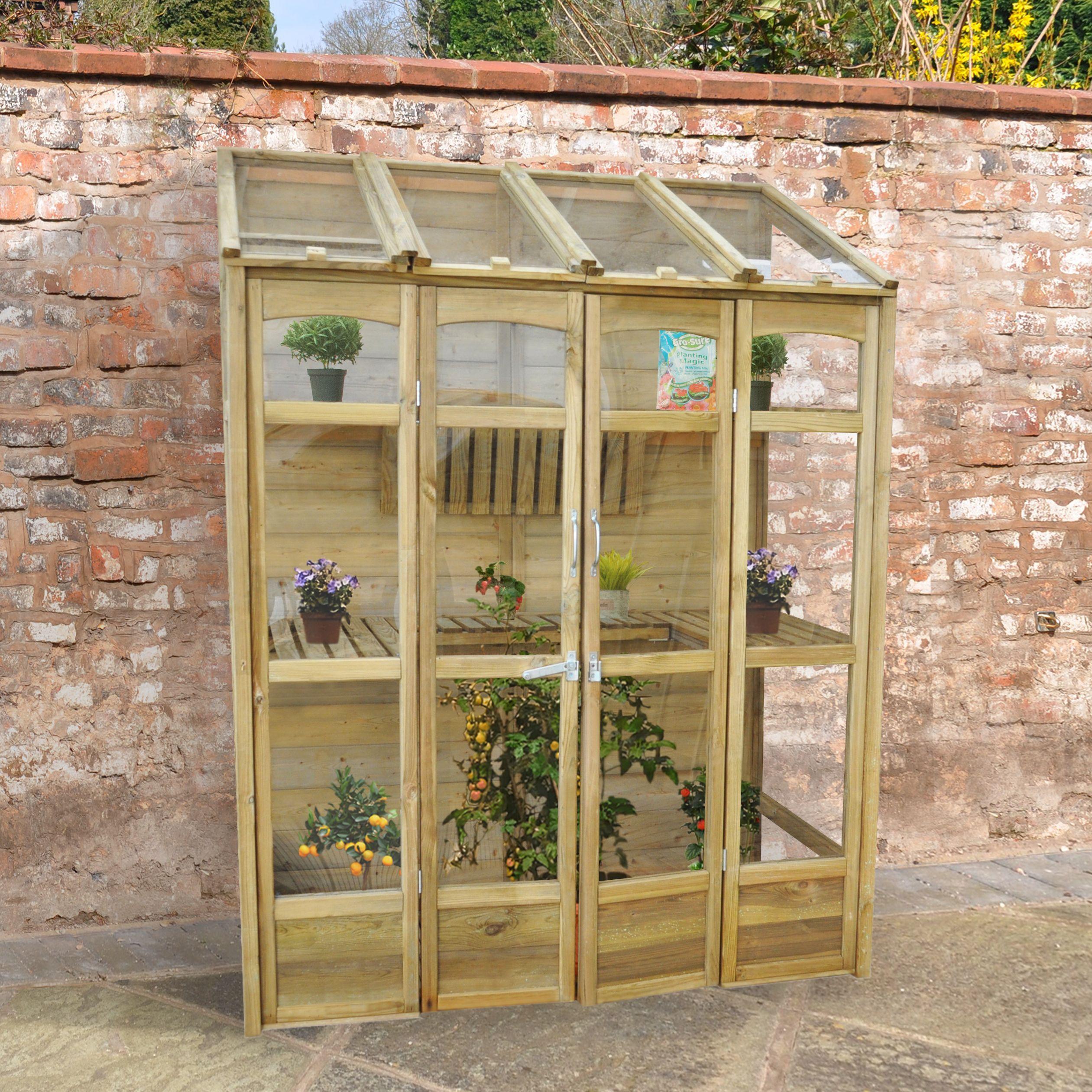 Forest 5X2 Greenhouse Departments DIY at B&Q Diy