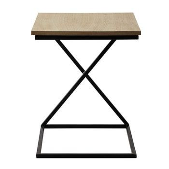 Mesita de metal y madera An 40 cm FELIX MUEBLES Pinterest - mesitas de madera