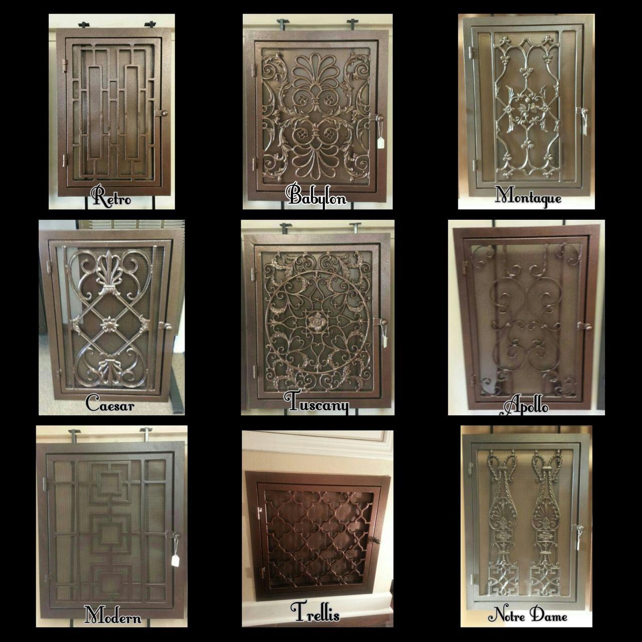 Babylon Handmade Wrought Iron Return Air Filter Frame