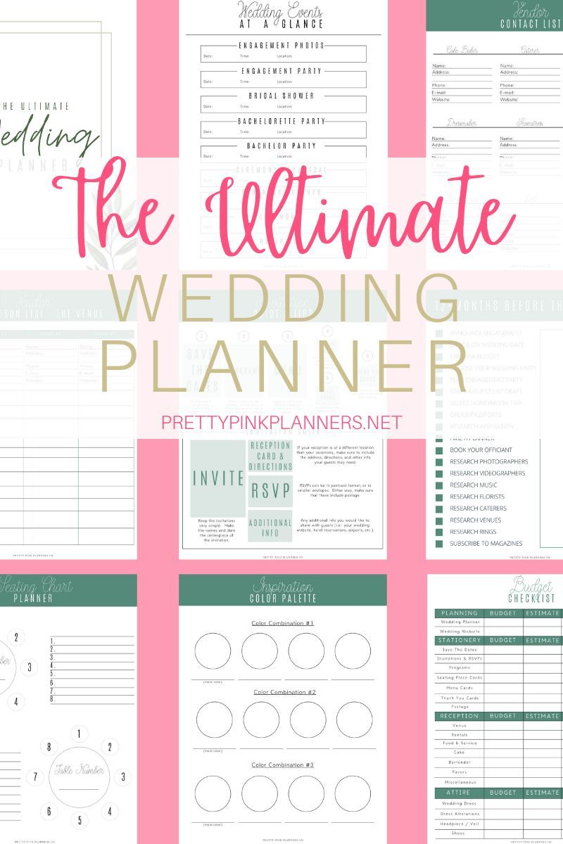 Photo of Plan your dream wedding with our printable wedding planner! Our     wedding plan…