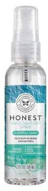 Honest Company Hand Sanitizer Spray Coastal Surf 2 Fl Oz Hand