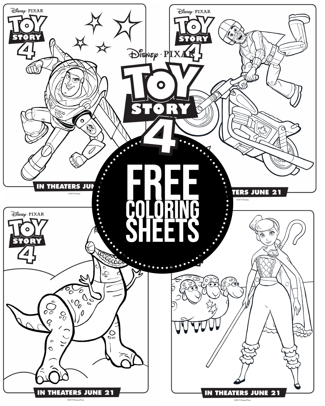 We Just Saw The New Movie Toy Story 4 In Theaters And Both Me And My Daughter Loved It I I Disney Coloring Pages Free Coloring Sheets Toy Story Coloring Pages