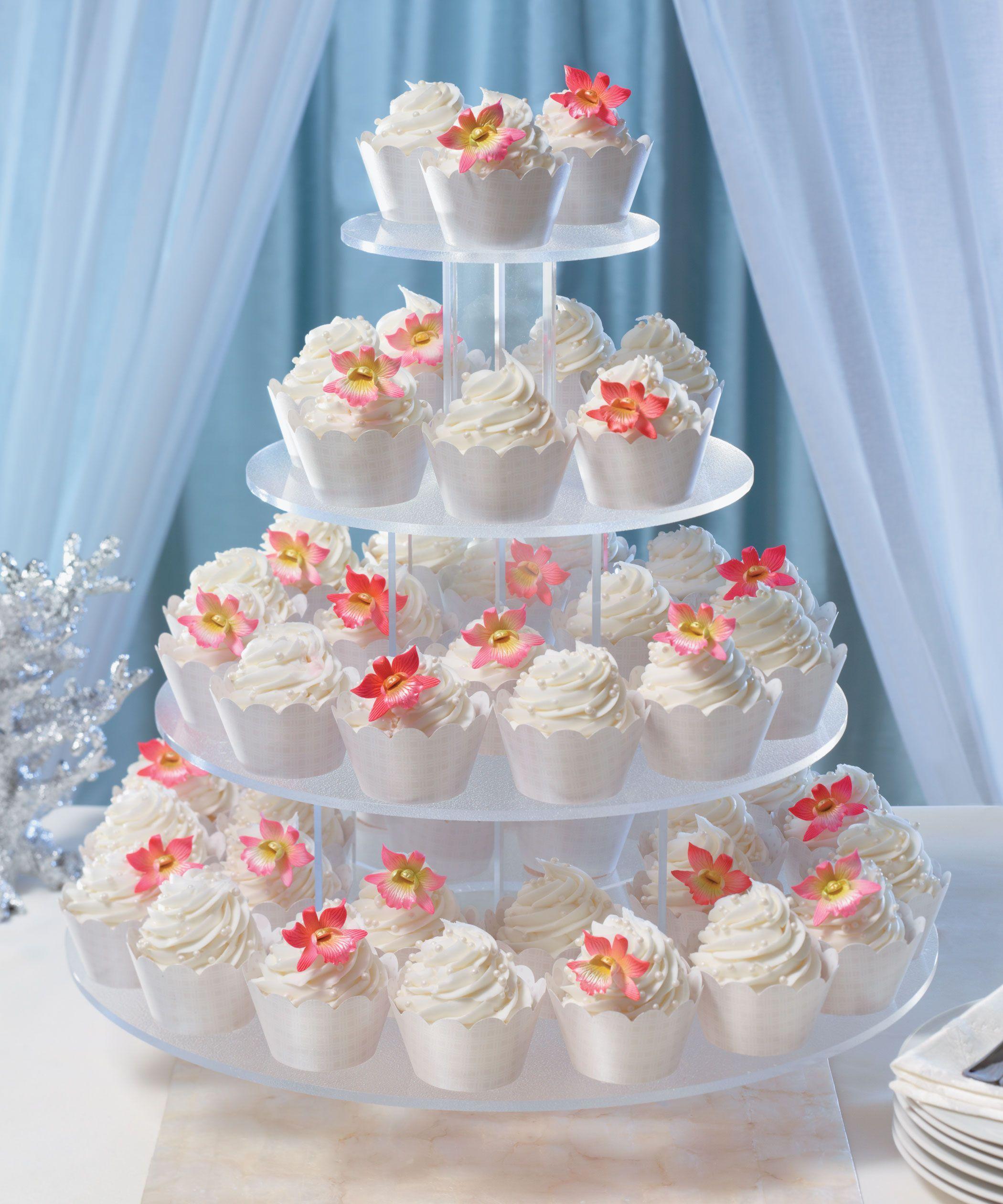"""Destination Wedding Cupcake Display """"I Do"""" Wedding Cakes"""