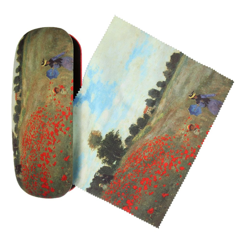 Mohnblumen Claude Monet Wunderschones Brillenetui Mit Microfaservelour Bezogen Innen Ebenfalls Mit Stoff Ausgeschlagen Inclusive Putztuch Im Selben Desi Vons