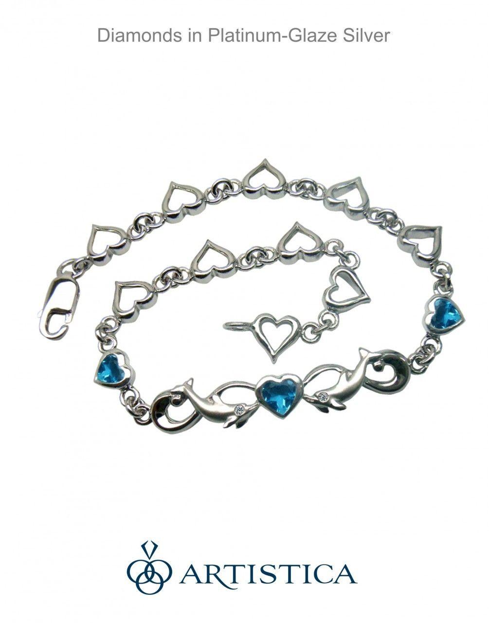 Diamond Dolphin Bracelet Endless Love Beautiful Jewelry