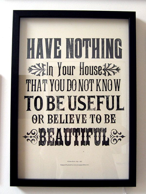 Useful And Beautiful William Morris Quote With Images William