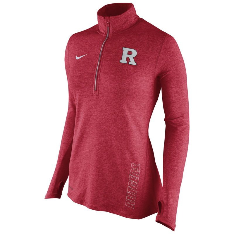 Rutgers Scarlet Knights Nike Women s Stadium Element 1 2 Zip Performance  Jacket - Scarlet fc352b3ea