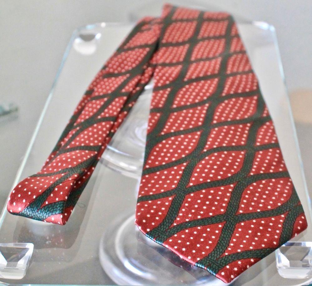 Bottega Veneta Mens Ties Red Green Navy Cord White Dots Made In Italy Vintage Bottegaveneta Tie Mens Silk Ties Tie Silk Ties