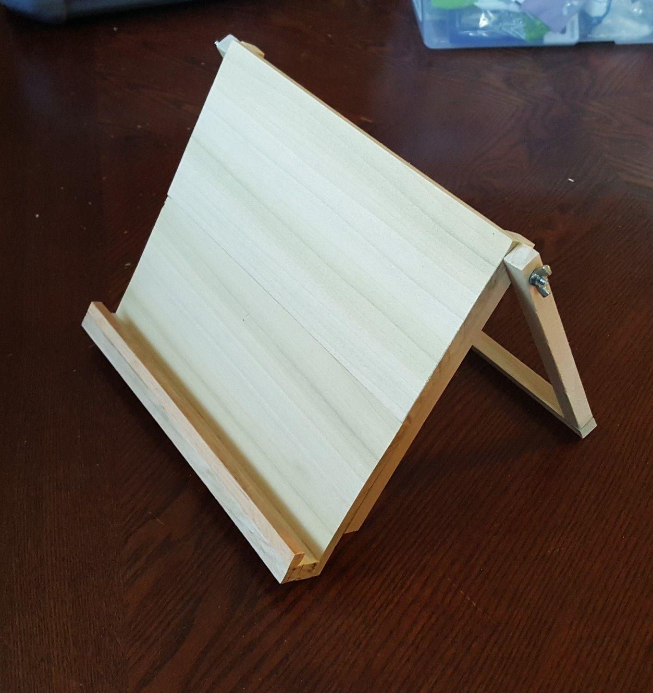 Homemade Adjustable Tablet Stand Adjustable Tablet Stand