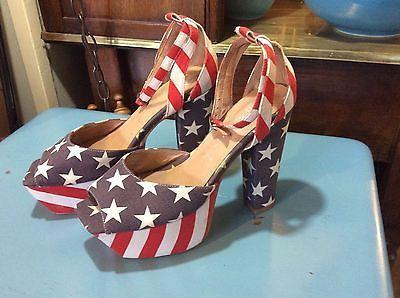 Vintage-womens-platform-disco-shoes