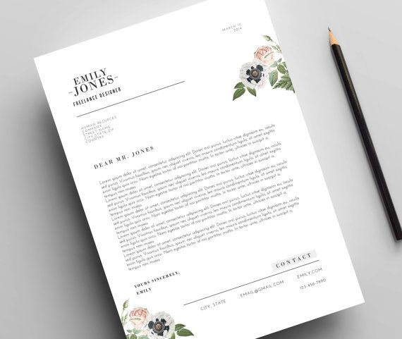 Instant Digital Download / Word format + PSD / CV Template + Cover - 3 resume formats