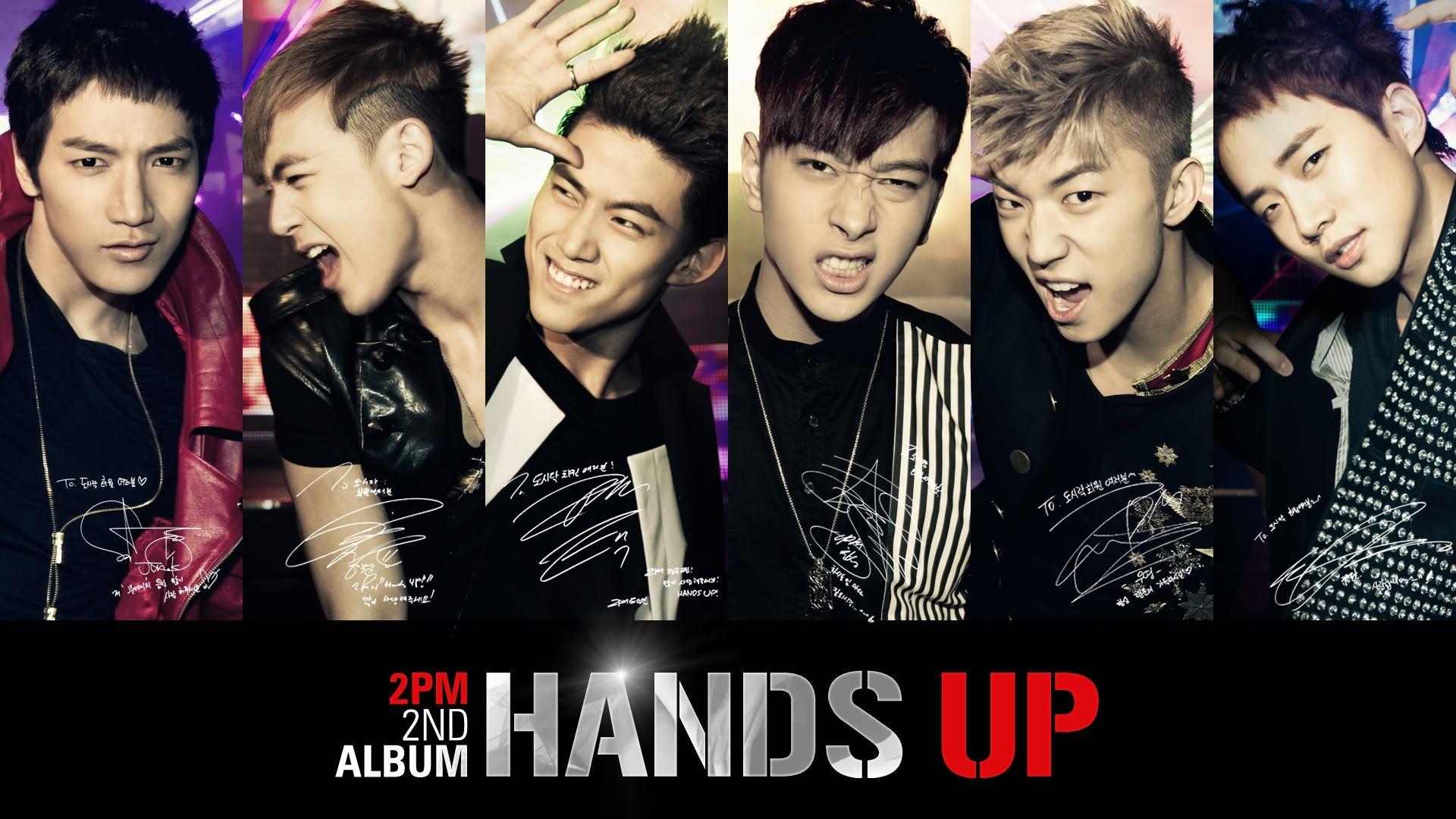 Wallpapers 2pm Hands Up 2nd Album Desktop Cell Phone Kpop