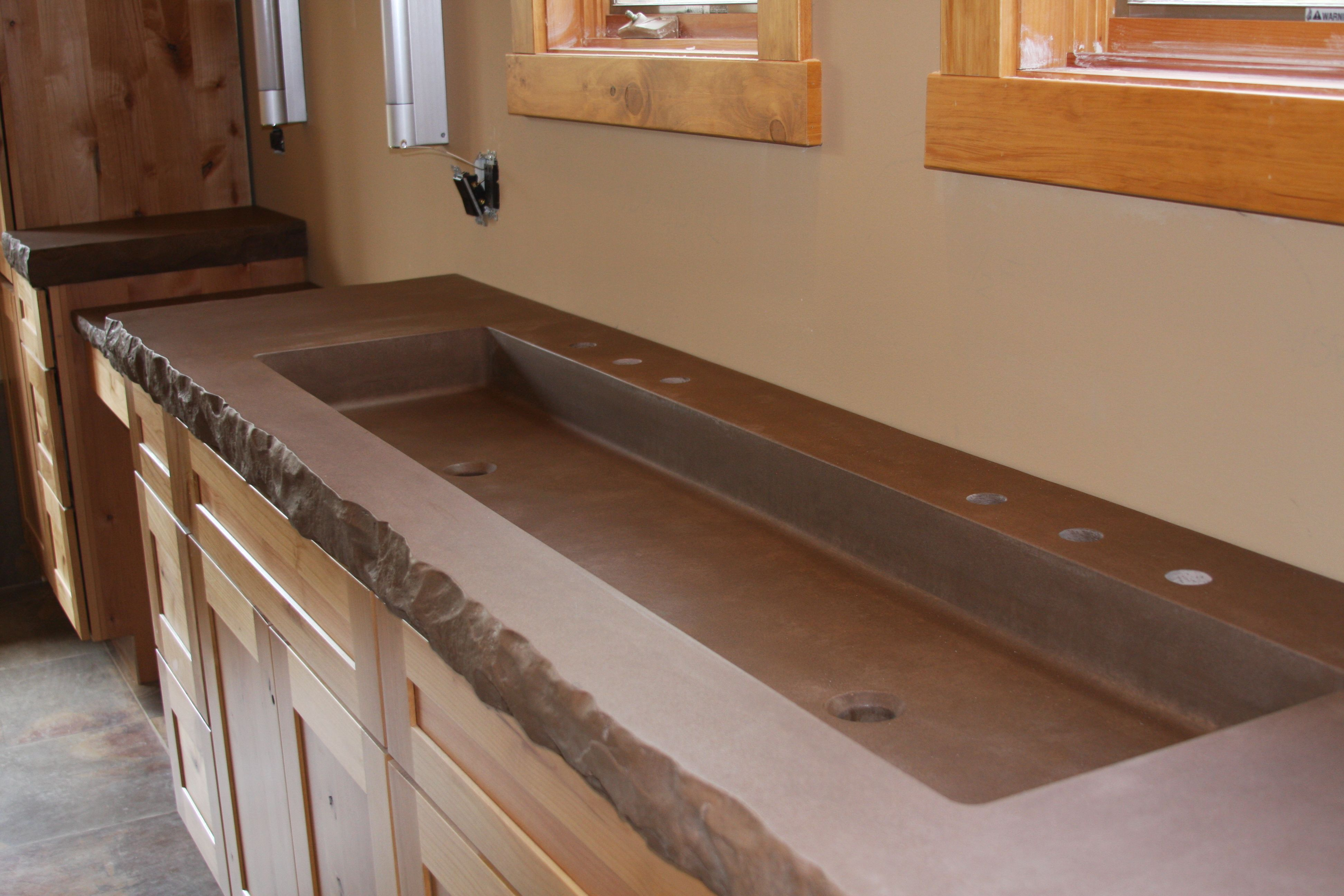 Charming Trough Sink Kitchen #11: 1000+ Images About Trough Sinks On Pinterest | Cement Bathroom, Basin Sink And Trough Sink Bathroom
