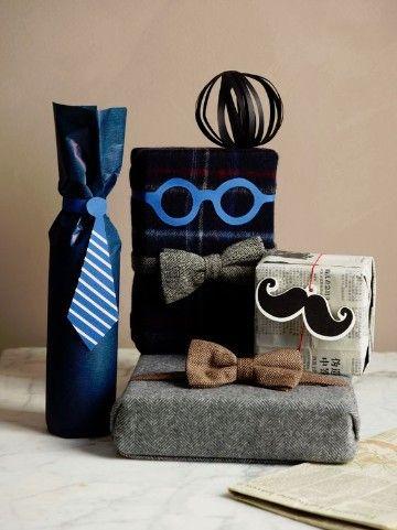 Como hacer envolturas de regalo para hombre originales Ideas para - envoltura de regalos originales