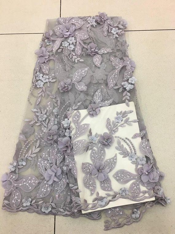 abe46f62a8 Heavy embroidered tulle lace fabric, multi-color lace fabric with ...
