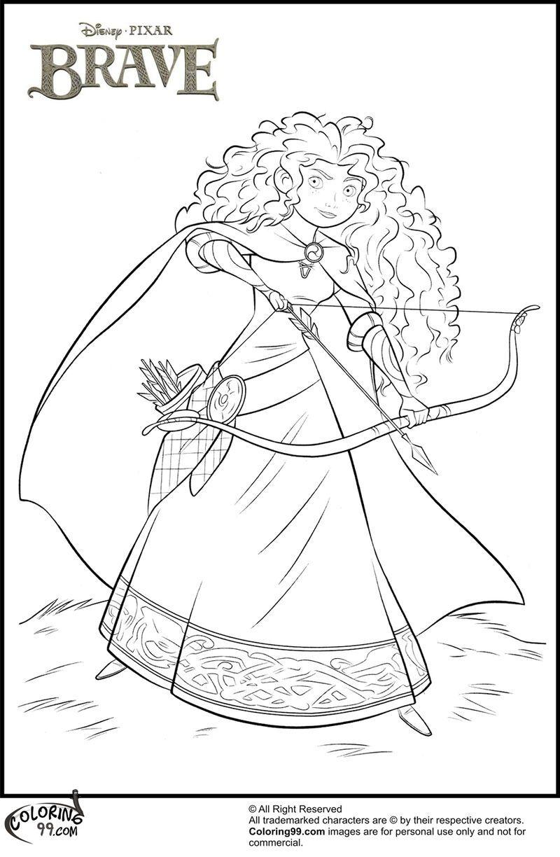 Brave Merida Disney Princess Coloring Page Disney Princess Coloring Pages Princess Coloring Pages Disney Coloring Pages