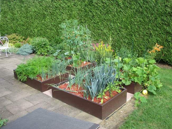 potager en carr permaculture jardin carr potager. Black Bedroom Furniture Sets. Home Design Ideas