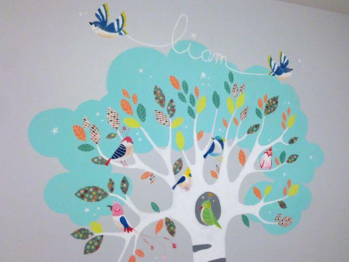 Fresque Décorative Murale Chambre D Enfant Arbre De Vie Et