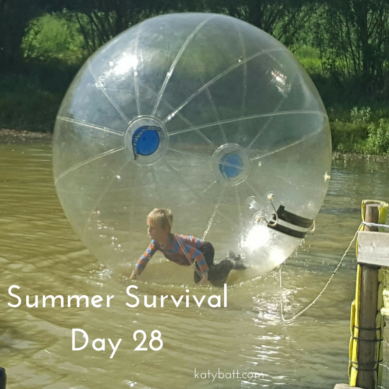 Day 28! Water zorbing, chilling at home and some honesty.   It's school holidays and I am welcoming you into the life of this busy mama to see how I cope with the highs and lows of the 6 week summer break!