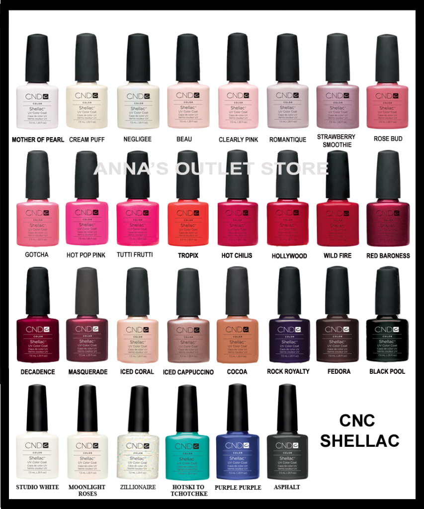 Fine Cnd Shellac Nail Polish Color Chart Motif - Nail Art Ideas ...