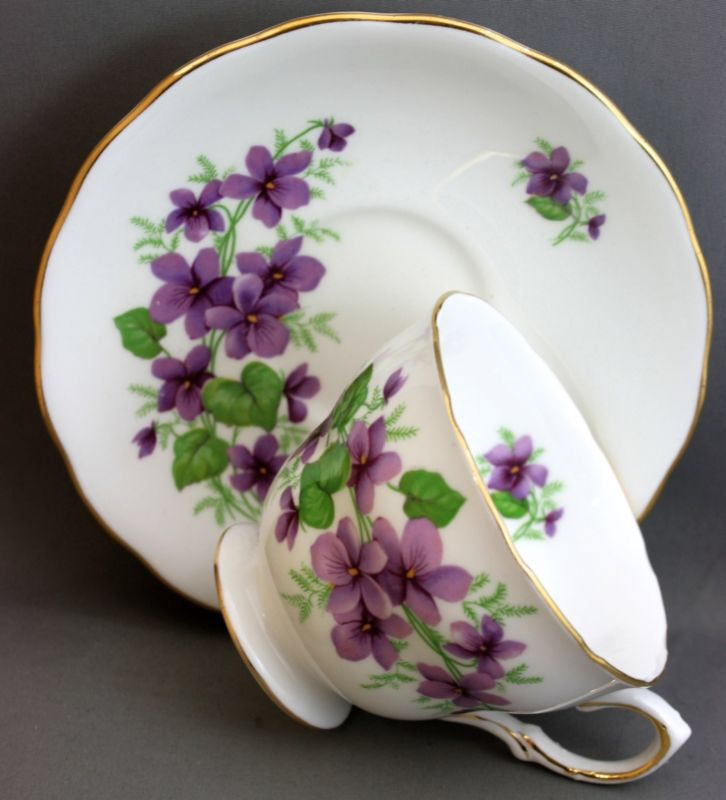 "31st birthday | Royal Vale ""Purple Peonies"" | English | Bone China | Hendersonville, NC"