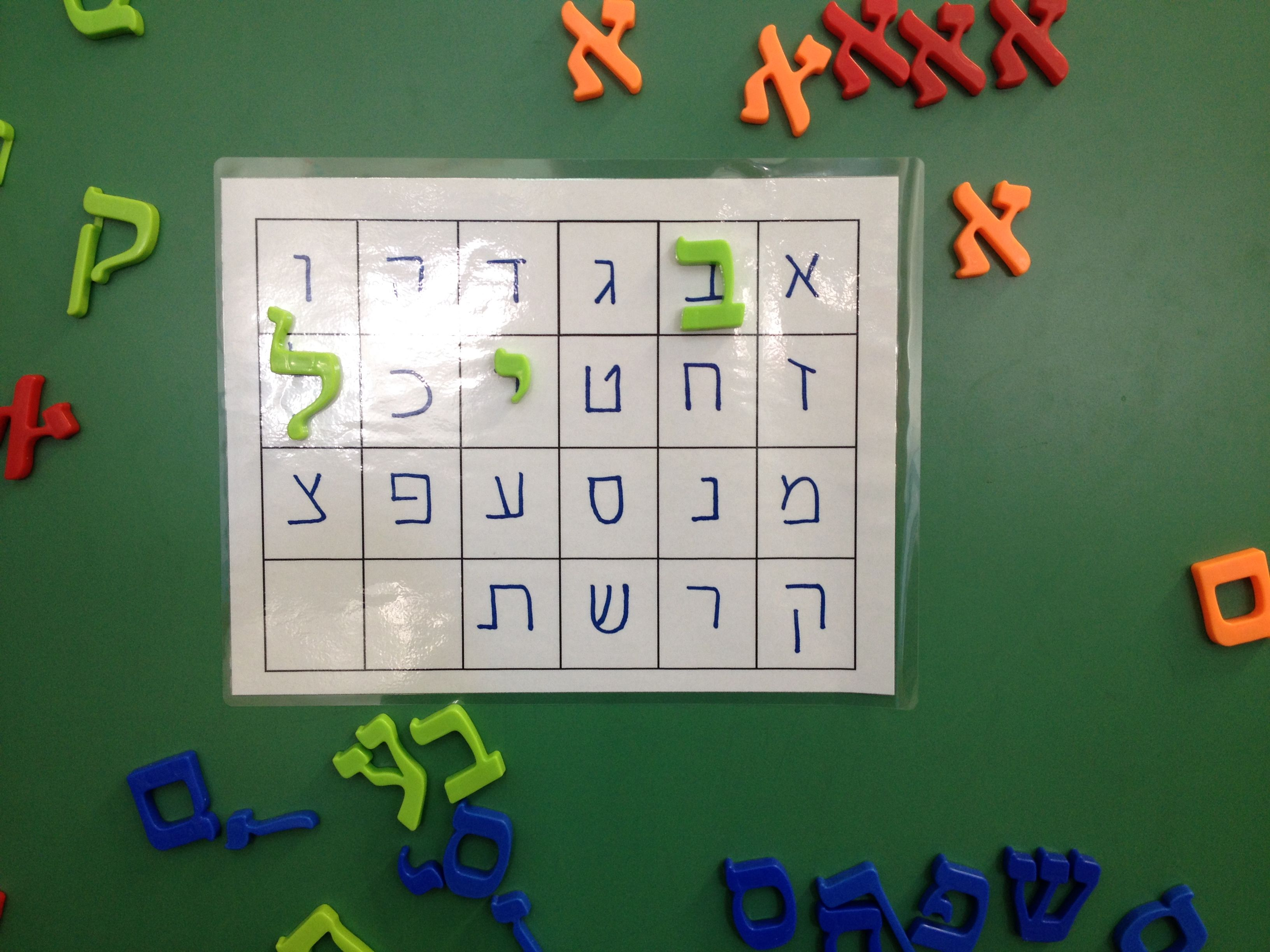 Magnet Alef Bet For Matching And Putting In Order